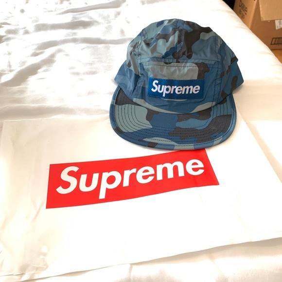 251d3912 Supreme Accessories | Blue Reflective Camo Hat | Poshmark